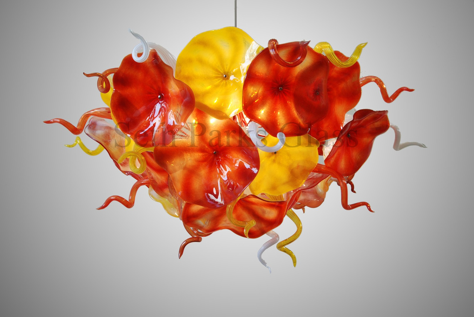 Seth parks glass blown glass chandelier seth parks glass blown glass chandelier aloadofball Choice Image