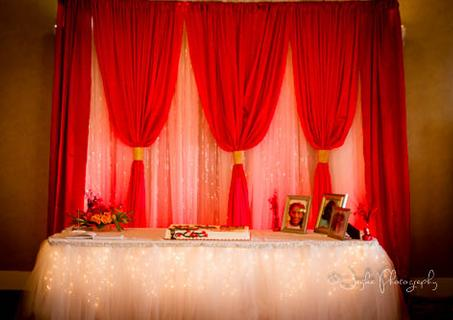 red sweet 16 backdrop