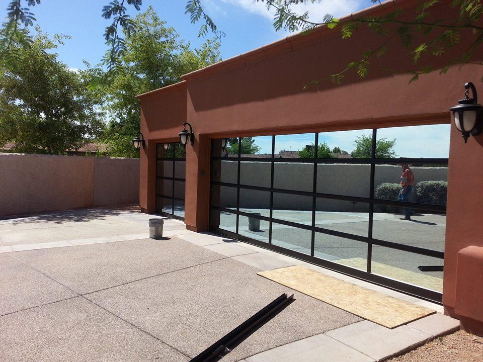 modern garage doorGlass Garage Doors Phoenix AZ  Modern Glass Garage Doors