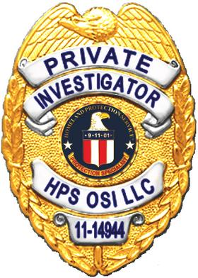 Homeland Protection Serice Private Investigators are Retired or Off Duty Police or Special Agents
