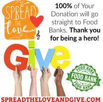 charity, donation, food banks, bioreigns, spread the love, giving, donate to food banks, bioreigns charity