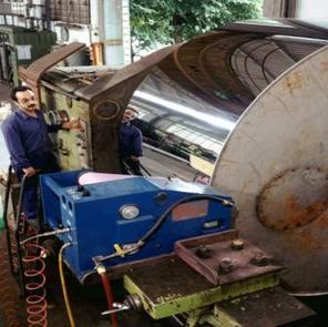 microfinishing large roll