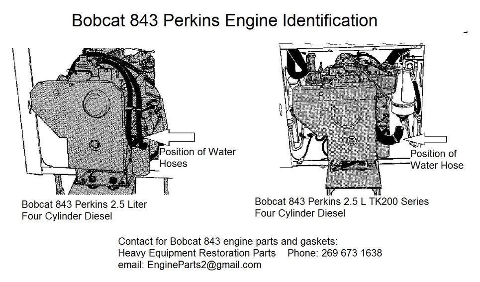 Bobcat 843 Perkins Engine Identification