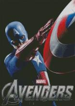 Cpt America - The Avengers Cross Stitch Chart Pattern