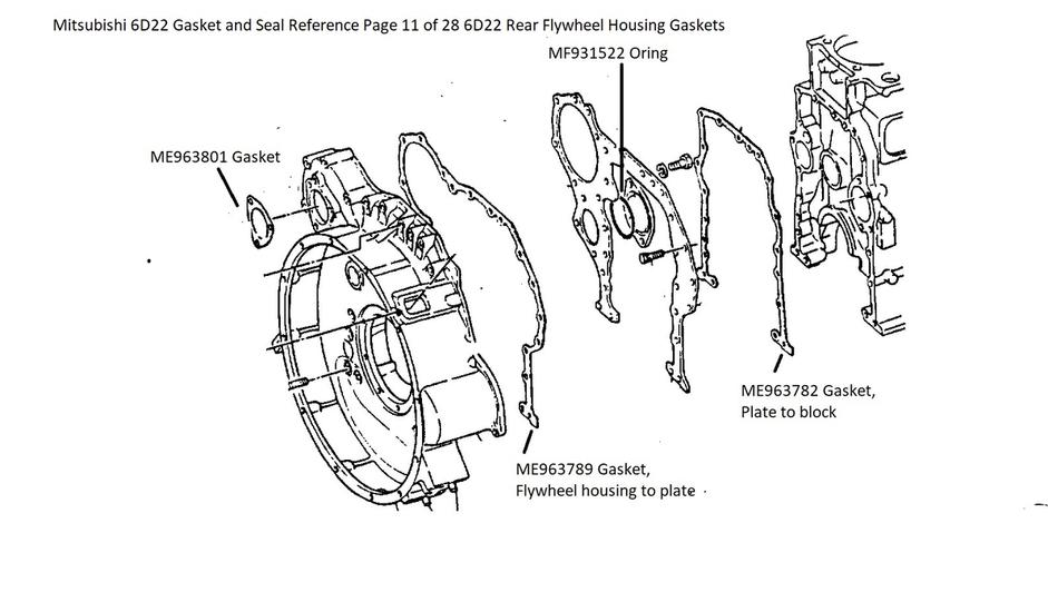 Mitsubishi 6D22 Gasket and Seal Reference Page 11 of 28
