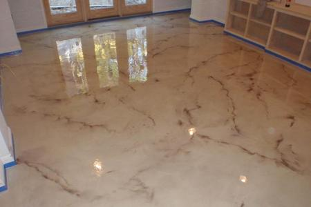 Epoxy basement floor Rocky River