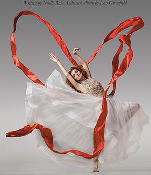 Red Ribbons - red ribbons dance photo Lois Greenfield dancer Noelle Rose Andressen
