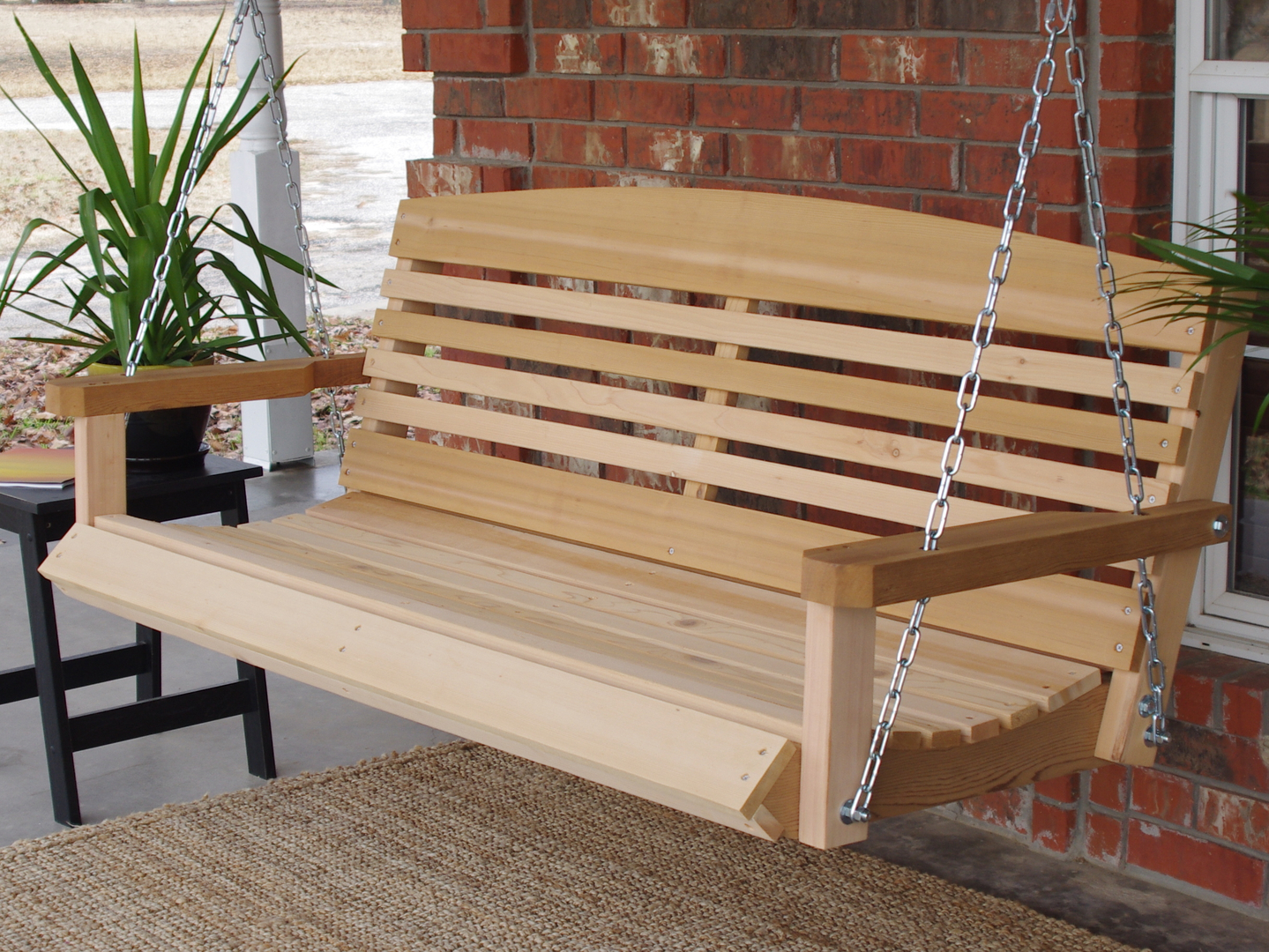 Sensational American Style Cedar Porch Swing Gmtry Best Dining Table And Chair Ideas Images Gmtryco