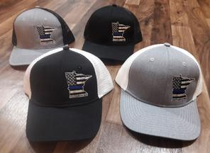 Law Enforcement Support Thin Blue Line Baseball Caps
