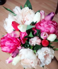 Pink and Cream Peony and Tulips Artificial Bouquet-the-little-flower-shop-artificial-flowers-fake-flowers-artificial-flower-bouquet-faux-flowers-faux-flower-bouquets