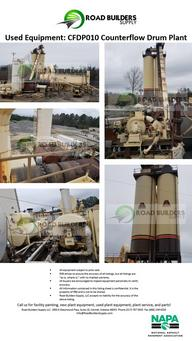 1994 Astec 300 TPH Stationary Counterflow Drum Asphalt Plant