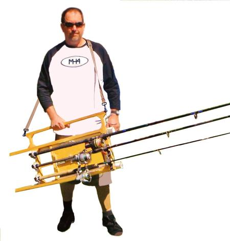 Fishing rod carrier plus frc for Fishing rod tote
