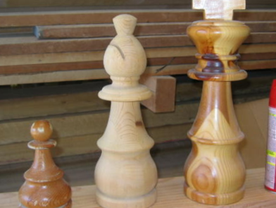 Wood Large Chess pieces