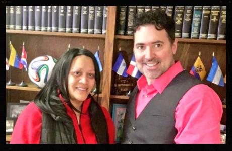 Patrick Merrick y client Linet Prado