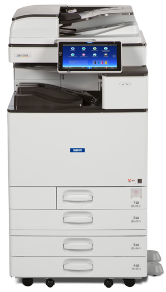 "Cedar Rapids Photo Copy, Inc., CRPC, Savin MPC2504ex, Office Printing, Office MFP, Printer, Copier, Print, Copy, Scan, Fax, 25 pages per minute black and white or full color, 2,300 sheet paper capacity, 12 inch x 18 inch paper size capability paper size, including 11"" x 17"", and smaller. Automatic Duplex via the Automatic Reversing Document Feeder. Print, Copy, Scan, Fax capable. EPEAT Gold, Energy Star certified. Sold by Cedar Rapids Photo Copy, Inc. or CRPC. Cedar Rapids, Corridor, and Eastern Iowa's leader in office printing technology and general office technology solutions since 1965."
