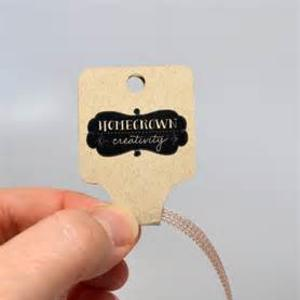 necklace hang tag
