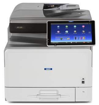 "Savin MP C307 8.5"" x 14"" capable desktop or standalone color multifunction printer/copier, MFP. 31 page per minute print speeds, 31 page per minute copy speeds, 80 image per minute scanning speeds, 50-sheet Single Pass Document Feeder with Automatic Duplexing, 250-sheet Paper Tray plus 100-sheet bypass tray - expandable up to 1,350 sheets. Perfect for small to mid-size workgroups and offices. This office multifunction printer/copier is sold by Cedar Rapids Photo Copy, Inc. (CRPC, Inc.) in Cedar Rapids, IA. The Corridor and Eastern Iowa's local office printing technology and general office technology experts since 1965."
