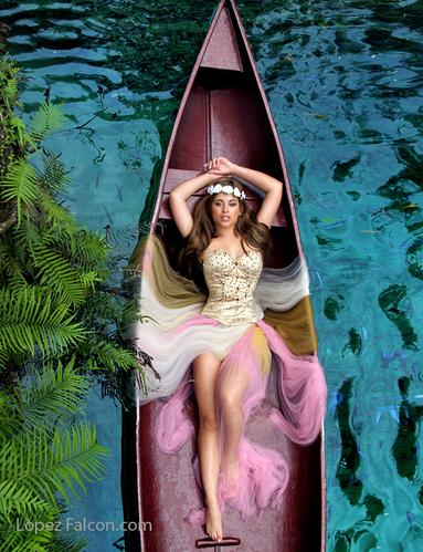secret gardens quinceanera photo shoot photoshoot CANOES canoe quinces photography