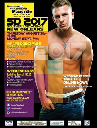 August 31 - September 04, 2017 - New Orleans, LA, Southern Decadence