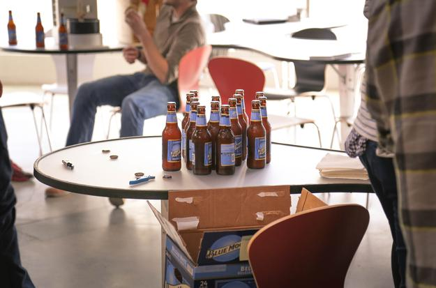 beers on table event at san francisco startup accelerator