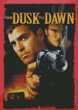 George Clooney From Dusk Till Dawn Cross Stitch Chart Pattern