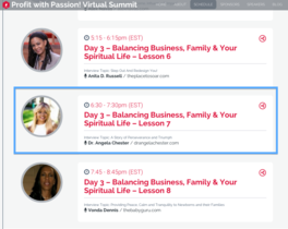 Profit with Passion Virtual Summit - DrAngela Chester_Balancing Business, Family & Spirit.
