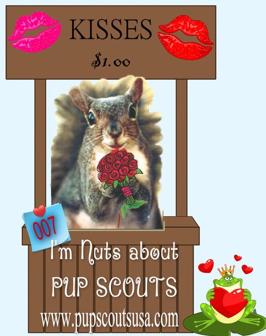 Pup Scouts Nuts about you Kissing Booth