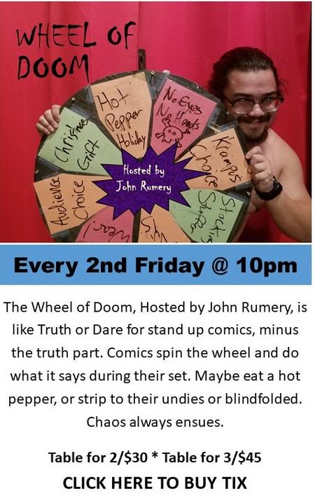 Wheel of Doom Comedy Show at Dangerous Theatre tickets