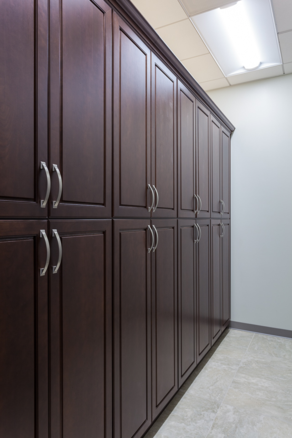 Cherry Showplace Cabinetry; pantry storage