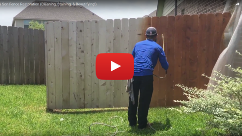 Fence Staining, Fence Restoration, Fence painting