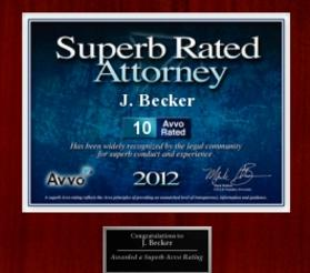 AVVO Rated perfect 10