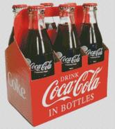 Cross Stitch Chart Pattern of Coca Cola in Bottles 6 Pack