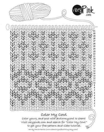 Color My Cuff custom coloring page on verypink.com