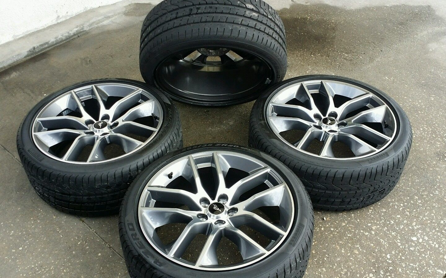 "OEM 20"" FORD MUSTANG GT WHEELS AND TIRES ..NEW TAKE OFFS ...FACTORY RIMS -  $1500"