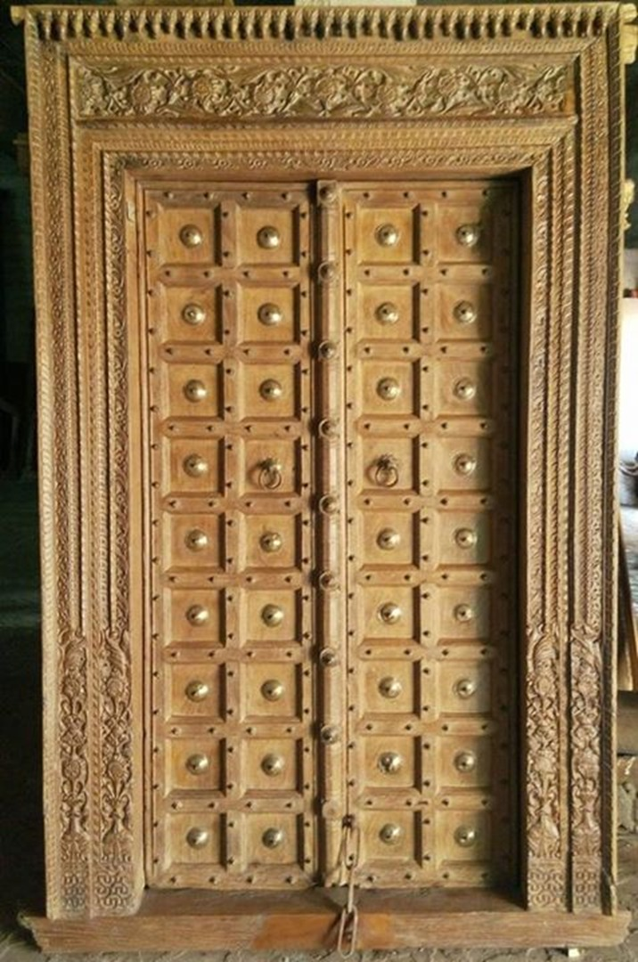 View on Mobile - Antique Carved Doors - Alpa Corp
