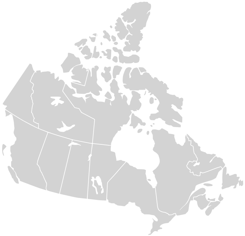 'File:Canada blank map.svg' by Lokal_Profil image cut to remove USA by Paul Robinson available at https://commons.wikimedia.org/wiki/File:Canada_blank_map.svg under CC-BY-SA-2.5 at https://creativecommons.org/licenses/by-sa/2.5/deed.en