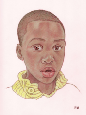 Isaiah Fredericks (color pencil on paper by CLIFF CARSON)