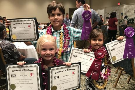 And the 2017/2018 State-wide winners from Kalaheo School at the Awards Banquet on O'ahu