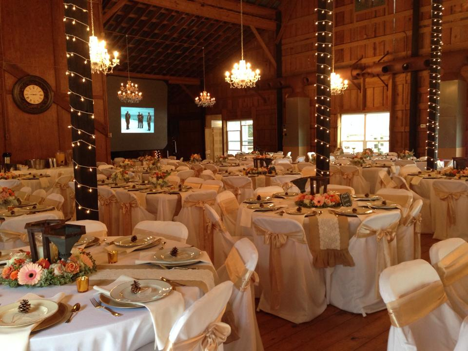 Are tables and chairs included in the rental fee for the crystal chandelier barn yes the set up of all inside tables and chairs are included in the rental