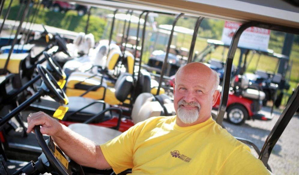 Golf Cart Dealership, Owner Scott Patton, Hot Rod Golf Cart, Angola, IN