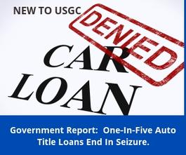 Government Report: Auto Loans