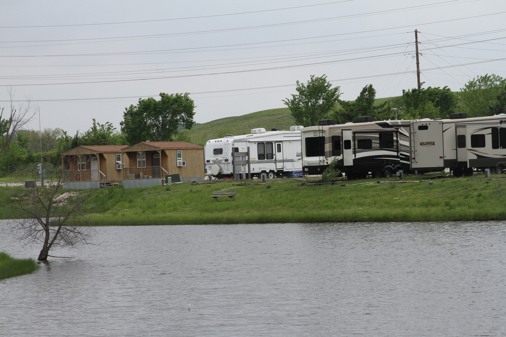 Beautiful RV Lots And Tiny Homes Surround Our Ponds