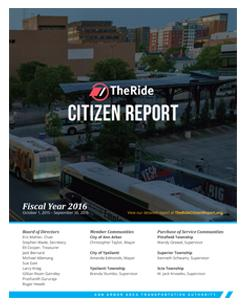 TheRide Citizen Report Fiscal Year 2016
