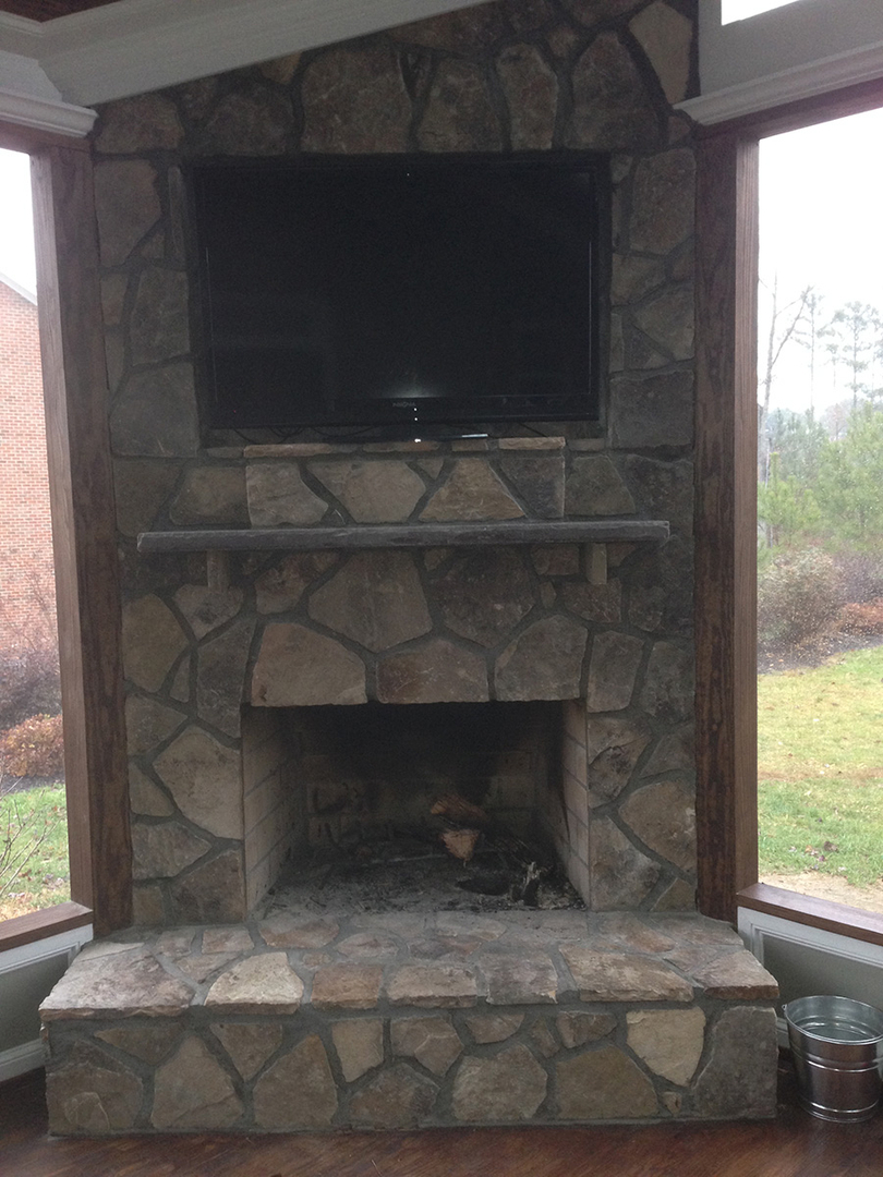 fireplaces the screen porch company