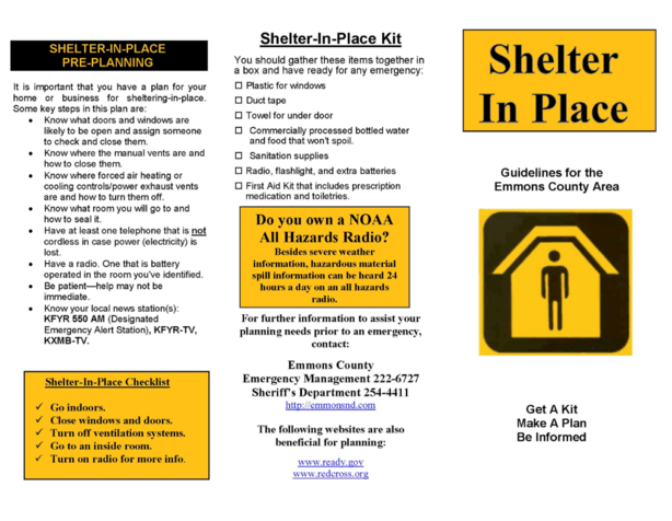 Shelter in Place Brochure