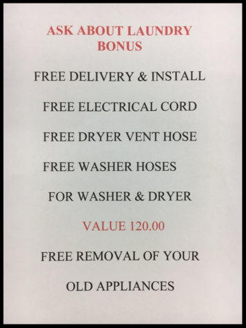 free washer and dryer accessories with purchase