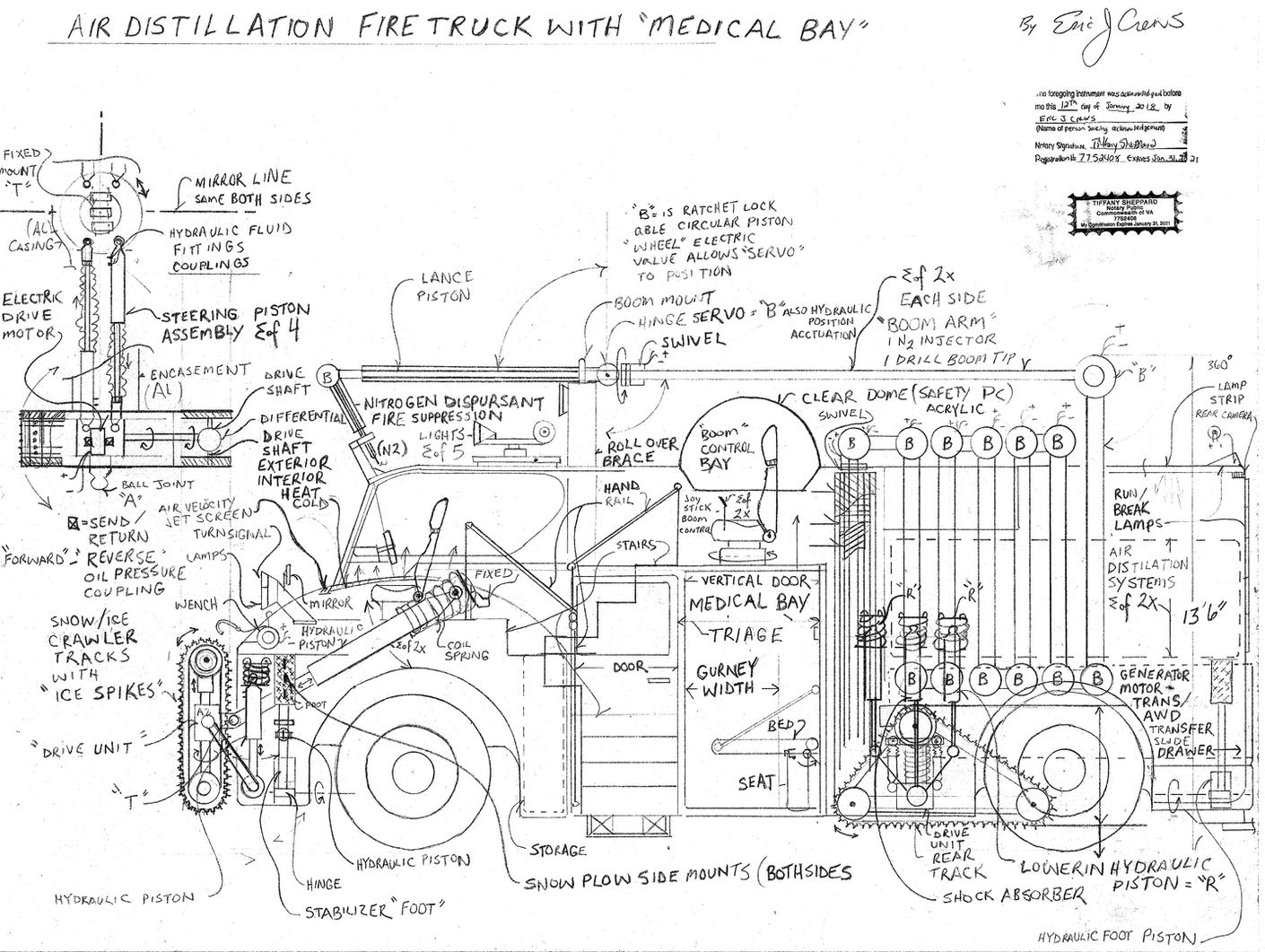Air Distillation Fire Truck Engine Diagram Disclaimer If Attempting To Produce These Design Yourself Additional Engineering May Be Required Desk Inc Will Not Held Liable