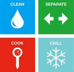 ... food item and before you go on to the next item. A solution of 1 teaspoon of bleach in 1 quart of water may be used to sanitize washed surfaces and ...