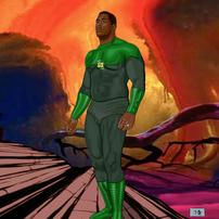 Bobby Henderson as THE GREEN LANTERN by CLIFF CARSON