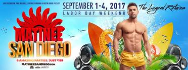 September 1-4, 2017 - San Diego, CA - MATINEE